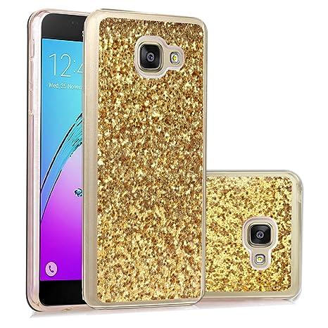 Carcasa Samsung Galaxy A3 2016, Funda Samsung Galaxy A3 2016, JAWSEU Samsung Galaxy A3(2016) A310 A310H A310F Carcasa Caso Estuche Purpurina llamativa ...