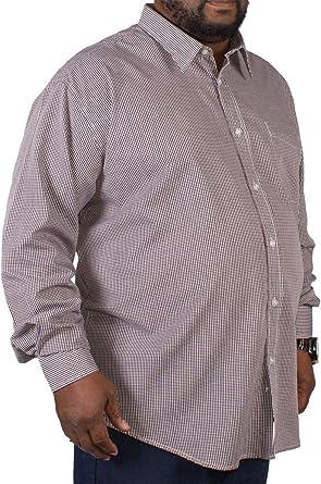 Big para hombre metáfora Checked camisa de manga larga Vino ...