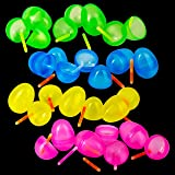 """Glow in The Dark Pre-Filled Easter Eggs with 2"""" Glow Sticks Assorted Colors 24 3"""" Easter Eggs and Glow Sticks Sticks - Perfect for Easter Egg Hunts and Easter Basket Stuffers"""