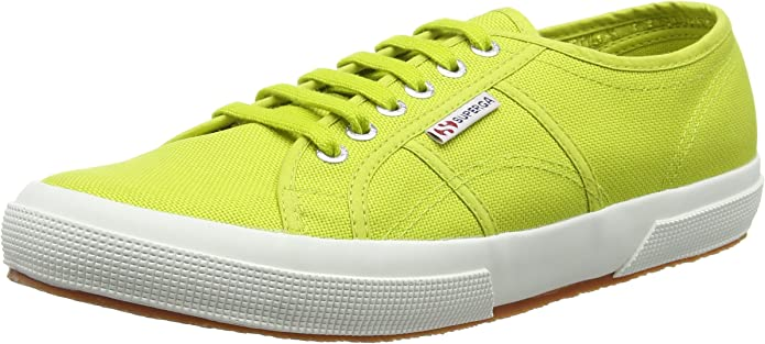 Superga 2750 Cotu Classic Sneakers Low-Top Unisex Damen Herren Apfelgrün