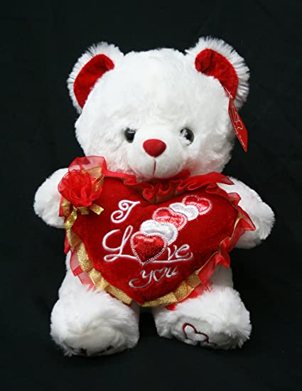 Amazon Com Valentine S Teddy Bear 15 Says I Love You When Its