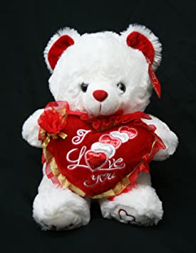 Valentineu0027s Teddy Bear (15u0026quot;) Says U0026quot;I LOVE YOUu0026quot; When Its