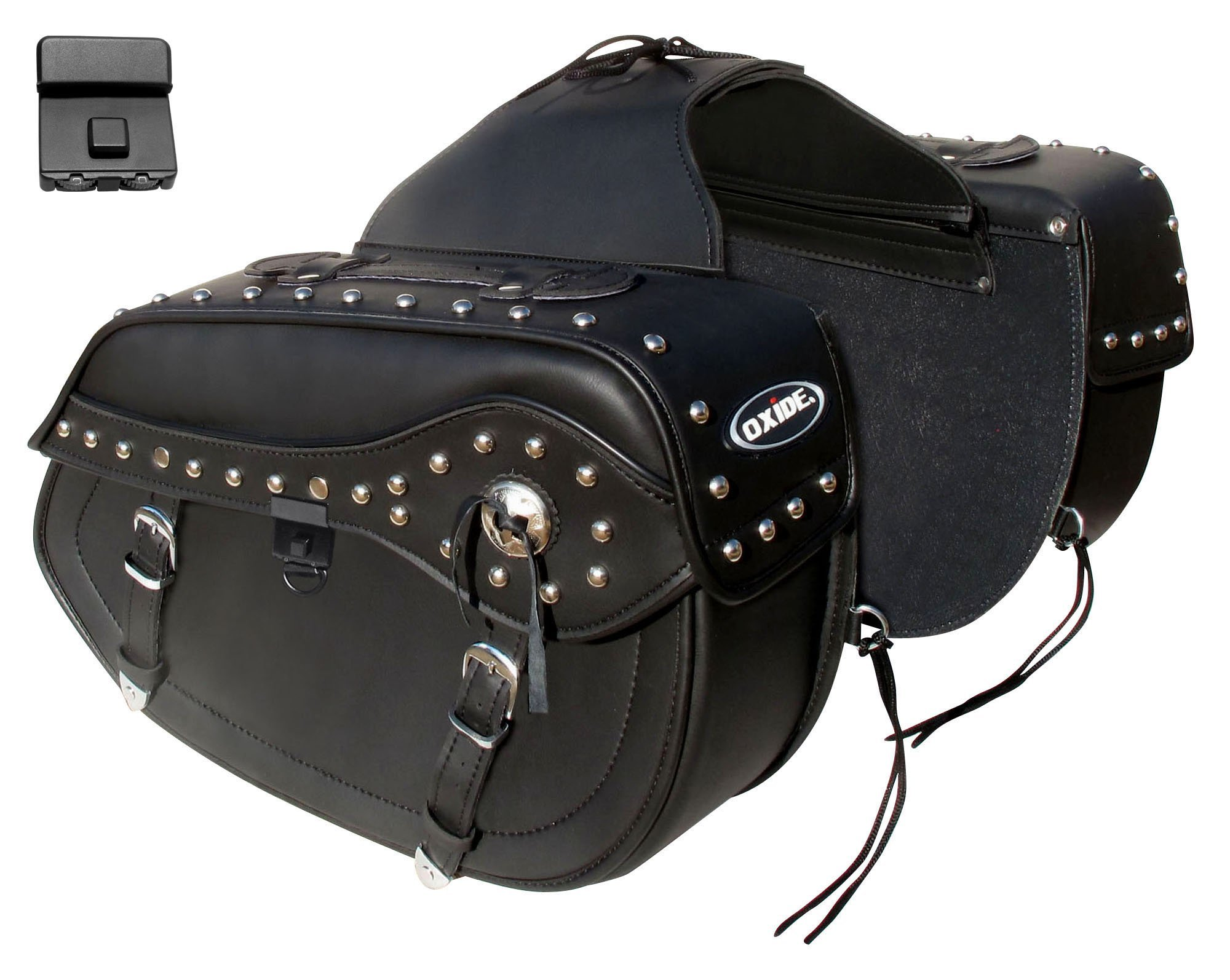 Oxide WS103 Large Tek leather Cruiser Motorcycle Panniers bike panniers motorcycle saddlebags travel bag