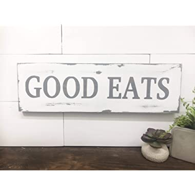 Weathered Good Eats Wood sign, Good eats kitchen sign, Good Eats sign, farmhouse kitchen decor, wood sign by BeaWOODtiful