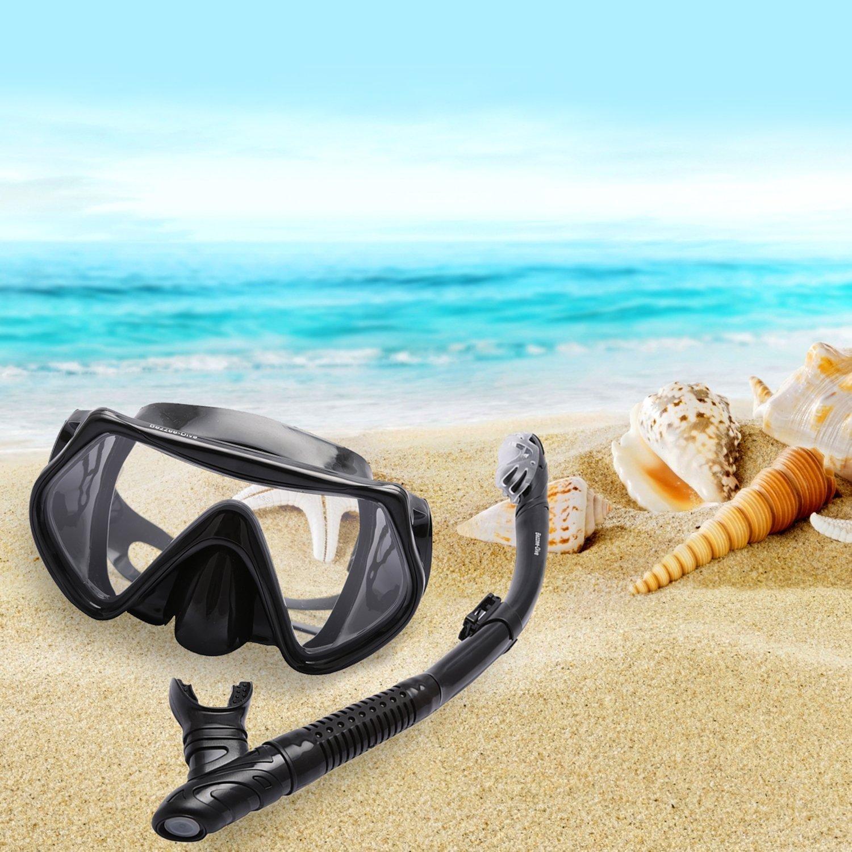Bezzee Dive Gafas de buceo – impermeable – silicona – visión clara