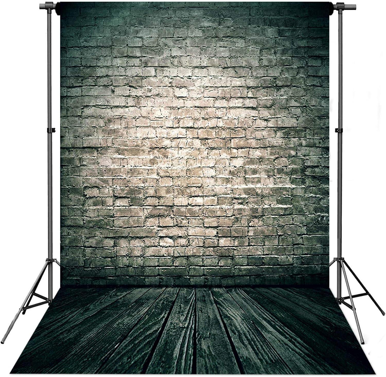 5X10FT-Imitation Brick Wall Photography Backdrops Children Wood Floor Photo Studio Background