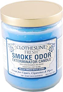 Tobacco Outlet Products Smoke Odor Exterminator 13oz Jar Candle, Clothesline Fresh, 13 oz,