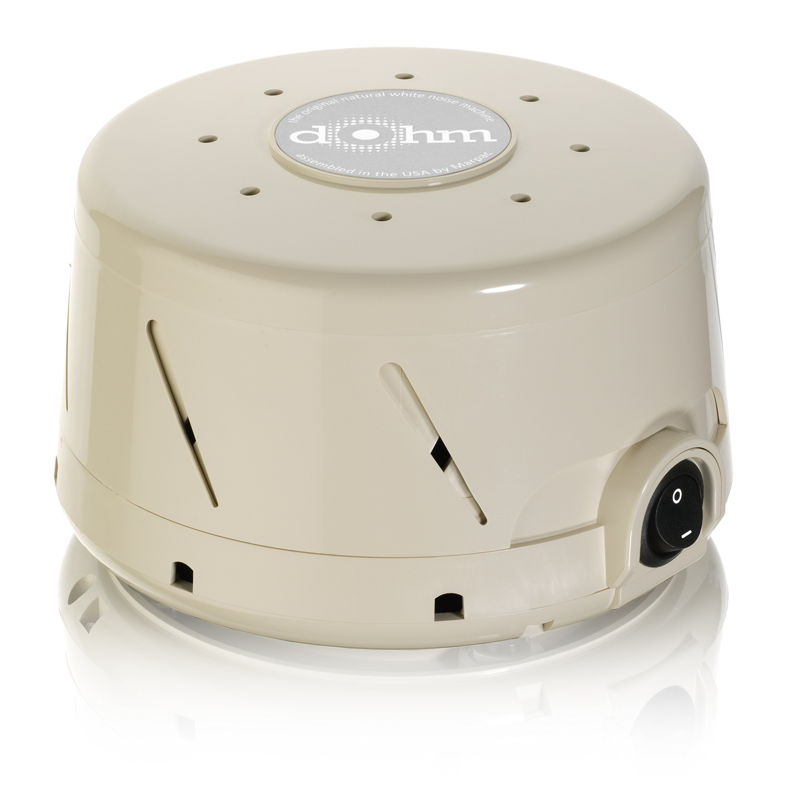 Marpac Dohm-SS Single Speed All-Natural White Noise Sound Machine, Actual Fan Inside, Tan by Marpac