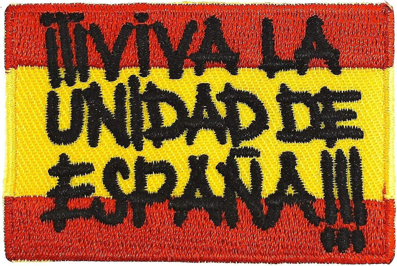 Gemelolandia Parche Bordado Termoadhesivo Viva la Unidad de España 6 cm: Amazon.es: Ropa y accesorios
