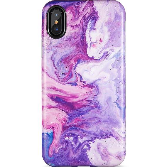 pretty nice e3dec f4dc4 iPhone X Case,iPhone Xs Case, Opal Marble Purple,ZADORN Slim Fit Cute for  Women Girls Clear Bumper Soft Silicone TPU Thin Cover Best Protective Phone  ...