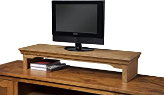 product image for TV Riser Stand Traditional Oak (Coffee, 26wx12dx7h)