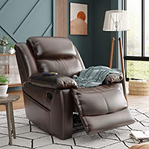 Merax Electric Recliner Chair Lazy Sofa for Elderly, Power Lift Office or Living Room, Dark Brown