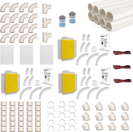 Retraflex - Set de montaje para aspiradora central, incluye tubos ...