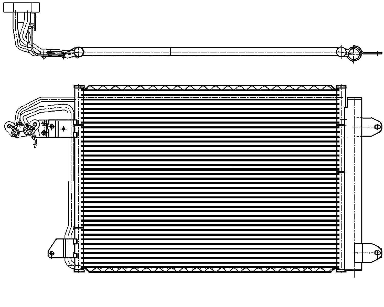 BEHR HELLA SERVICE 8FC 351 301-044 Condensador, aire acondicionado: Amazon.es: Coche y moto