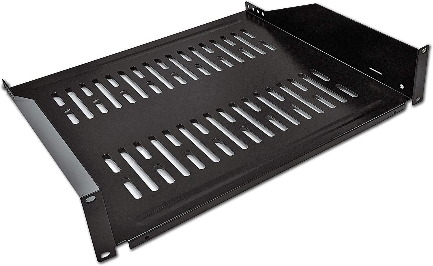 16 Deep Pack of 2 Shelves Electriduct 2U Universal 19 Vented Server Rack Mount Shelf