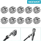 Neewer® 2 Pack Silver 5/8-Inch Male to 3/8-Inch Female Microphone Steel Screw Adapters (5-Piece Each Pack)