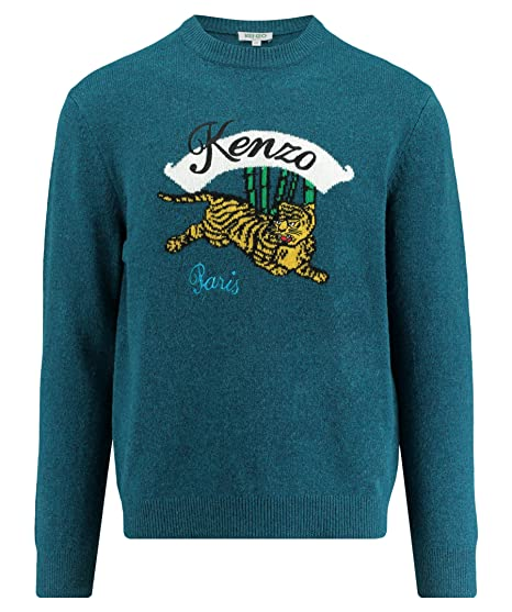 17161be61 Kenzo Mens Jumping Tiger Jumper: Amazon.co.uk: Clothing