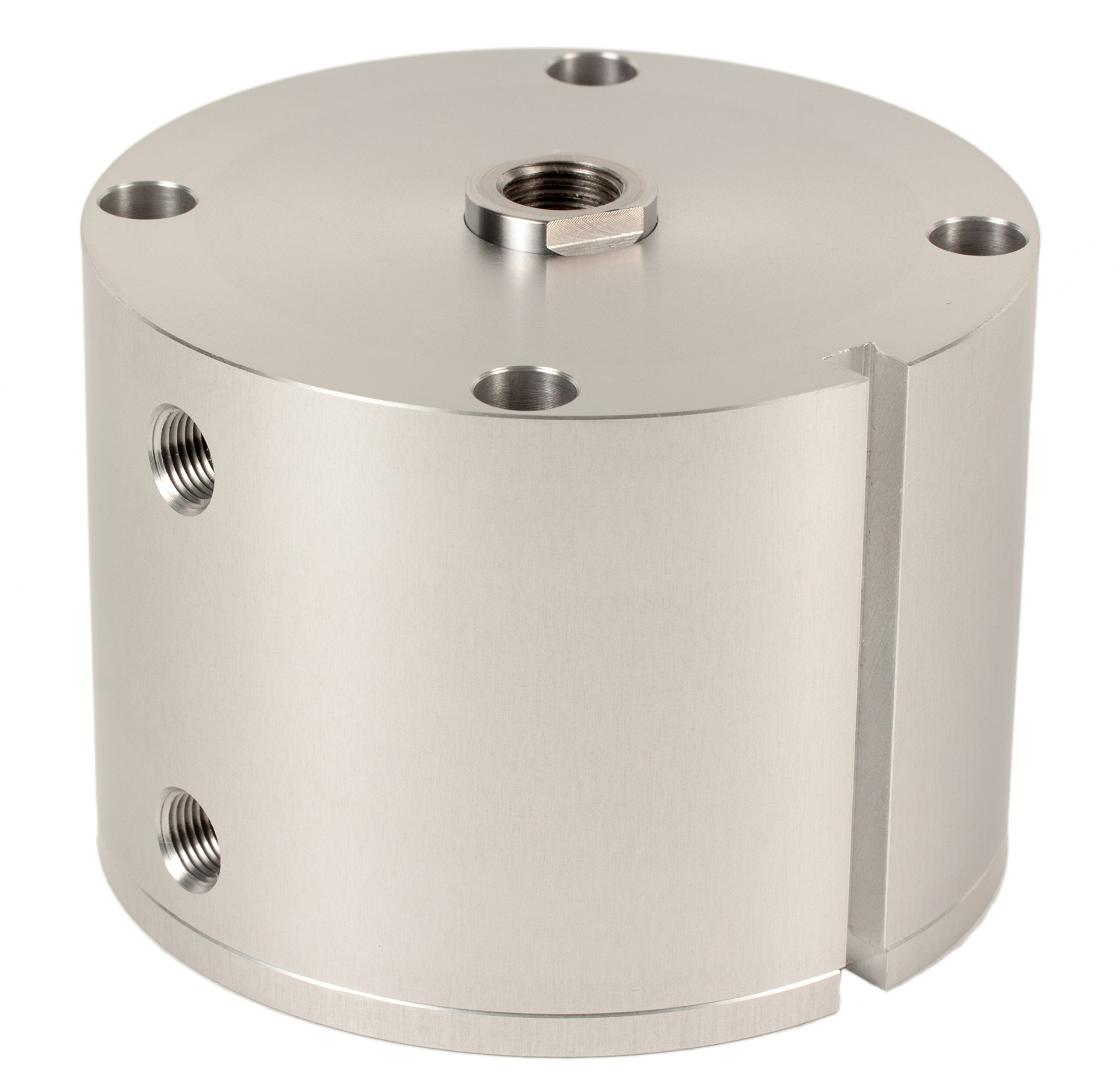Fabco-Air D-521-X-E Original Pancake Cylinder, Double Acting, Maximum Pressure of 250 PSI, Switch Ready with Magnet, 2-1/2'' Bore Diameter x 1-1/2'' Stroke