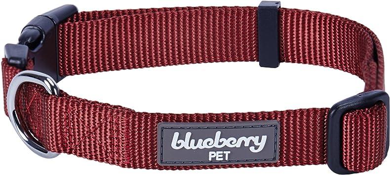 Blueberry Pet Hundehalsband Klassisch Einfarbig Basic Polyester Nylon Hundehalsband Langlebig