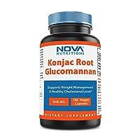 Nova Nutritions Konjac Root Glucomannan Capsules 2000 mg/Serving Veggie Caps - Promotes...
