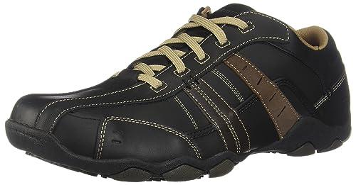 Skechers DiameterVassell 62607 BBK - Zapatillas Fashion de Cuero para Hombre, Marrón, 42.5 EU