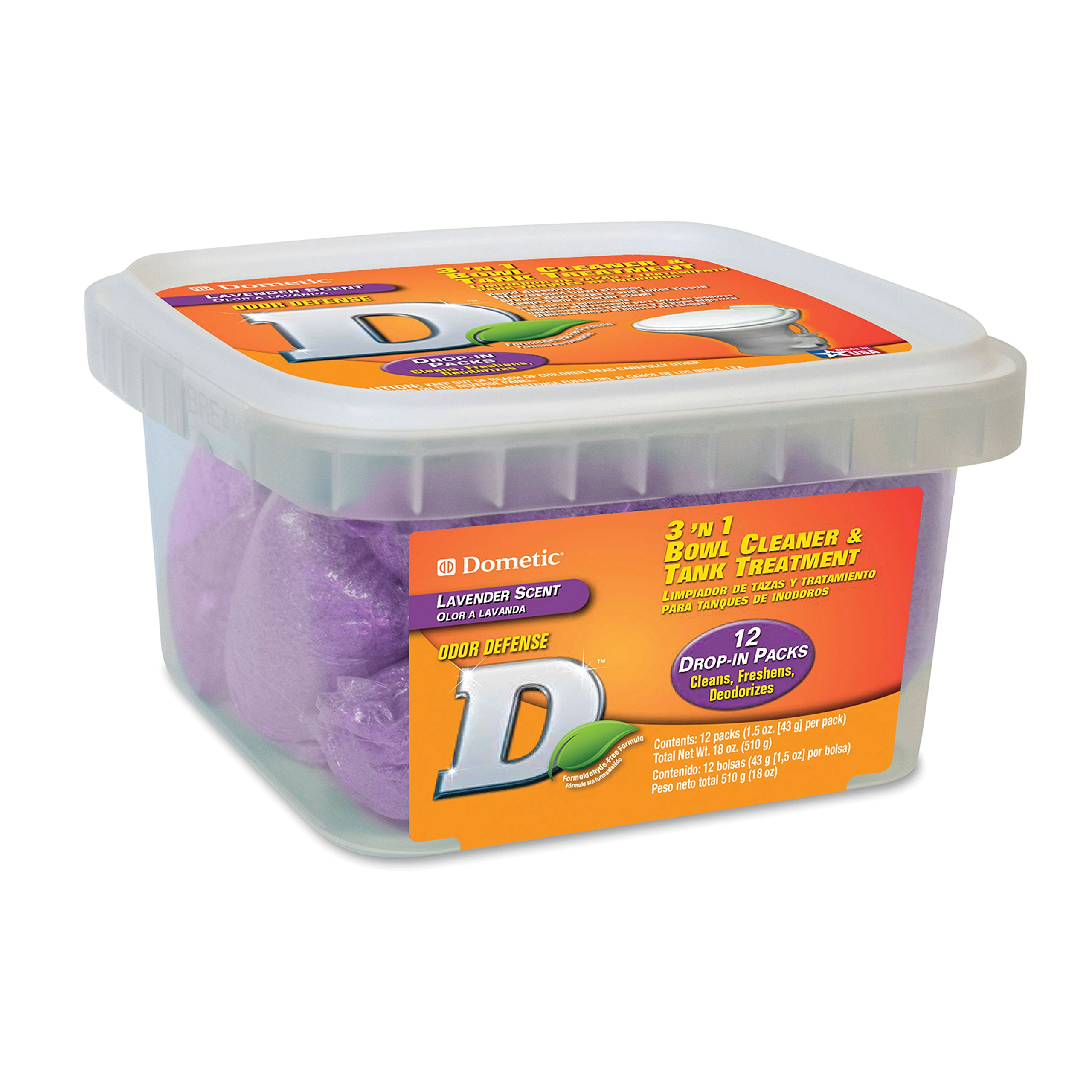 Dometic D1112001 3 N 1 Bowl Cleaner & Tank Treatment 12ct.