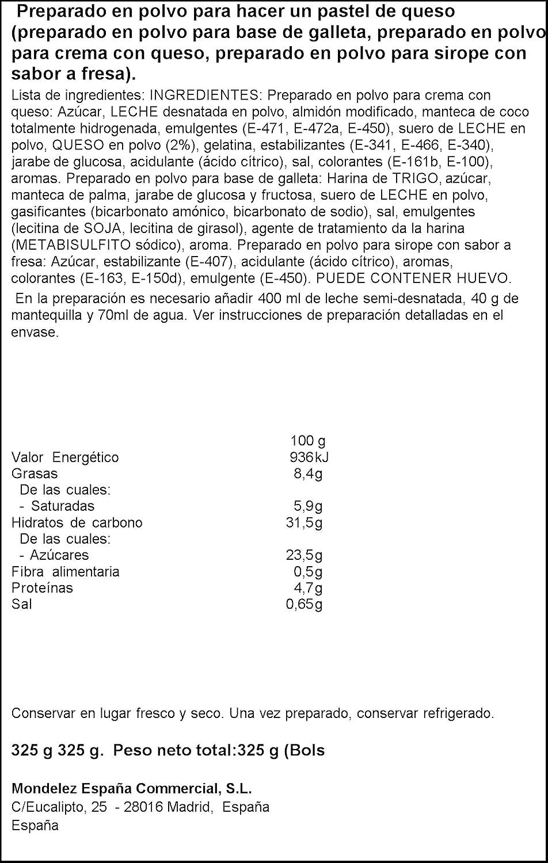 Royal - Masa De Tarta De Queso - Preparado, 325 g: Amazon.es: Alimentación y bebidas