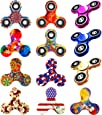 12 Pack Fidget Spinner, EDC Hand Tri-Spinner Fidget Stress Relief Toys for Adults and Kids, All-in-one Design 2-3 Min Spins,Relieves your ADD ADHD Autism