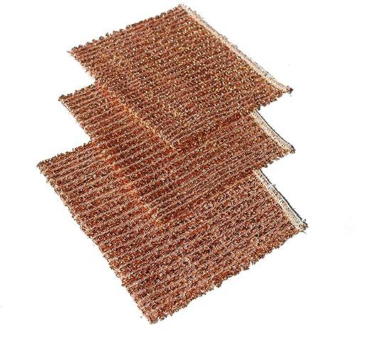 5 x bayeta de cobre - estropajo de cobre 14,5 x 15 cm ...