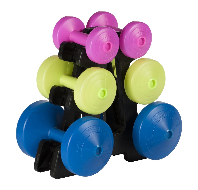 York Fitness Juego de pesas 15 kilos y soporte: Amazon.es: Deportes y aire libre