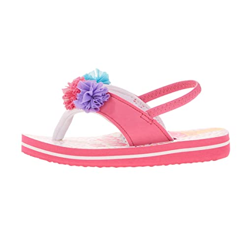 30f9b48e9876 Image Unavailable. Image not available for. Color  Wonder Beach Sandals For Girls  Flip Flop Toddler Summer Shoe Pink Sprinkle Pom ...