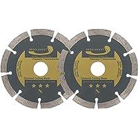 PRODIAMANT Set van 2 diamantslijpschijven 125 x 22,2 mm - beton, steen, baksteen, universeel 125 mm
