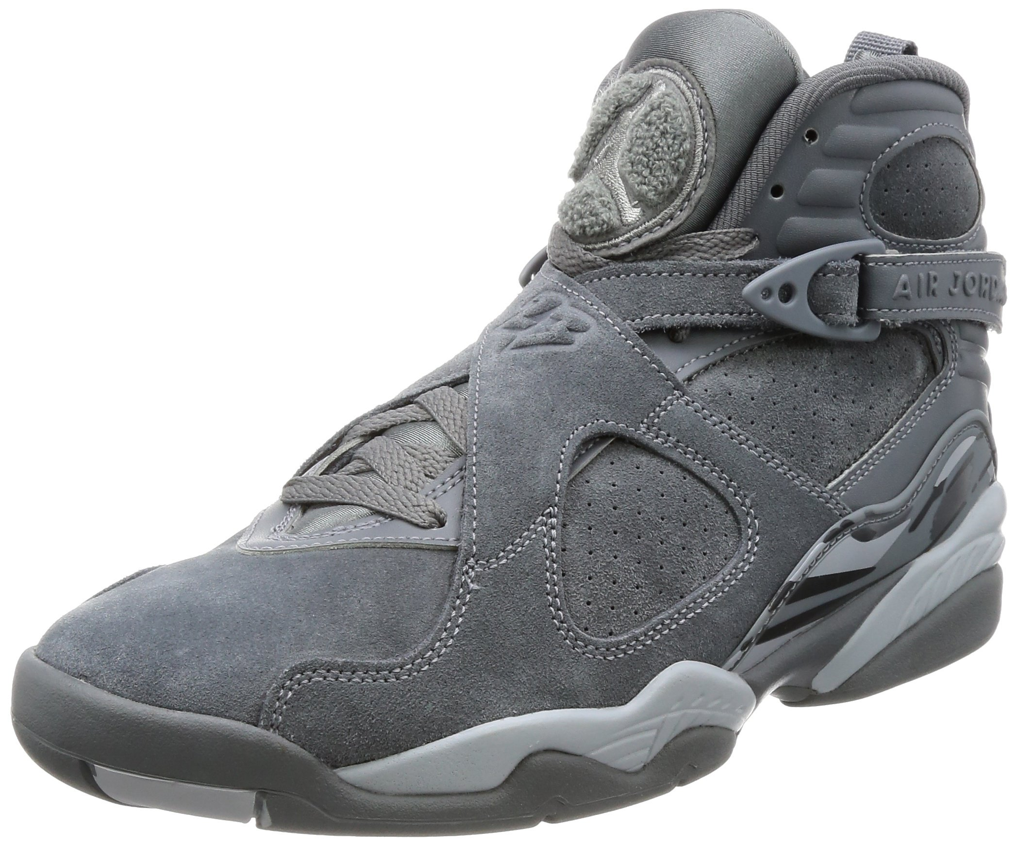 Jordan Mens Air 8 Retro Cool Grey Basketball Shoe