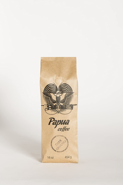 Papua Ground Dark Roast Coffee (16oz)