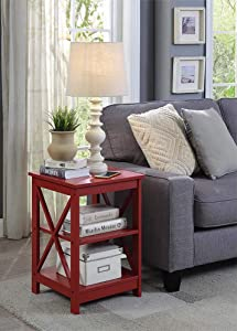 Convenience Concepts Oxford End Table, Cranberry Red