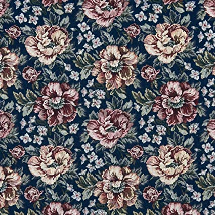 Amazon Com Red Burgundy And Dark Blue Floral Rose Tapestry