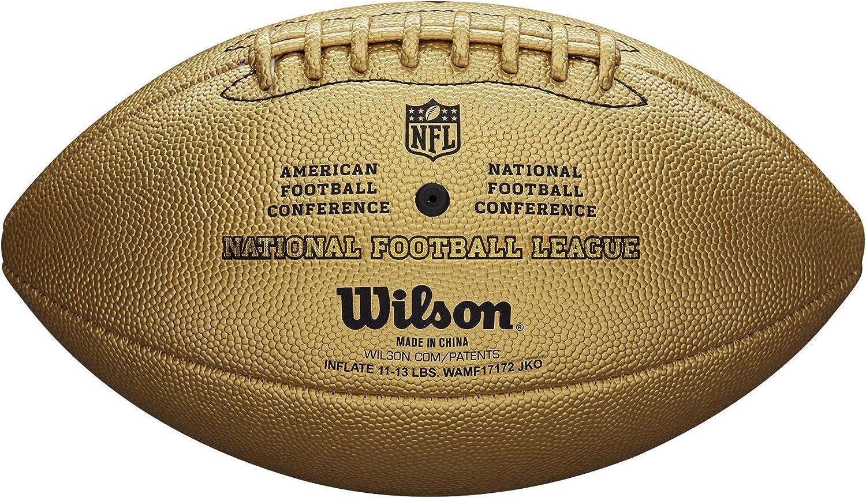 Wilson American Football Fanball GOLD The Duke Fanartikel Gold Edition Senior