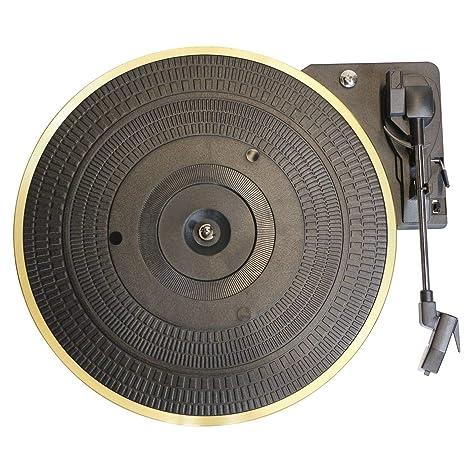 Semoic Placa Giratoria de Metal de 28 Cm 33/45/78 RPM Brazo Recto ...