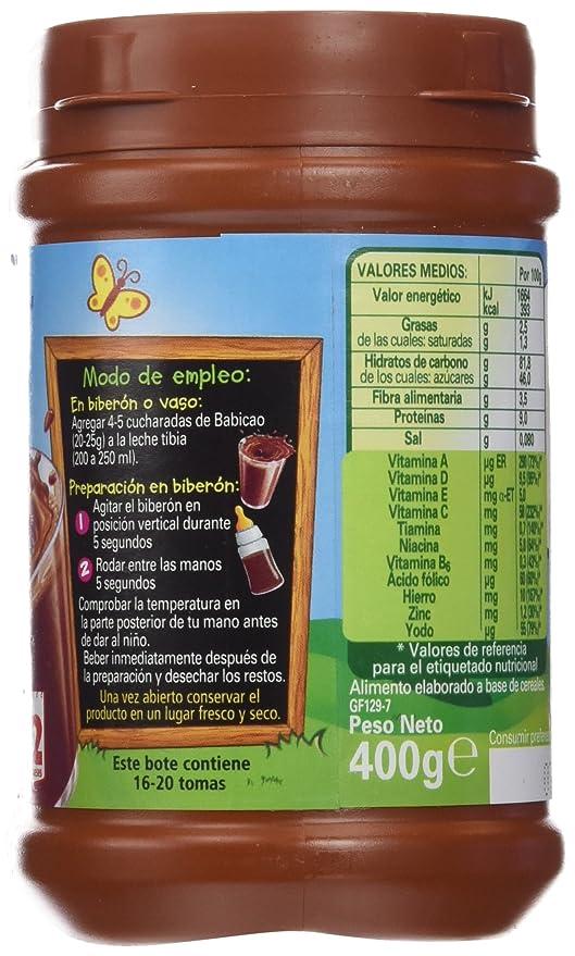 Nestlé Junior Babicao, Alimento Elaborado a Base de Cereales a Partir de 12 Meses - 400 g: Amazon.es: Amazon Pantry