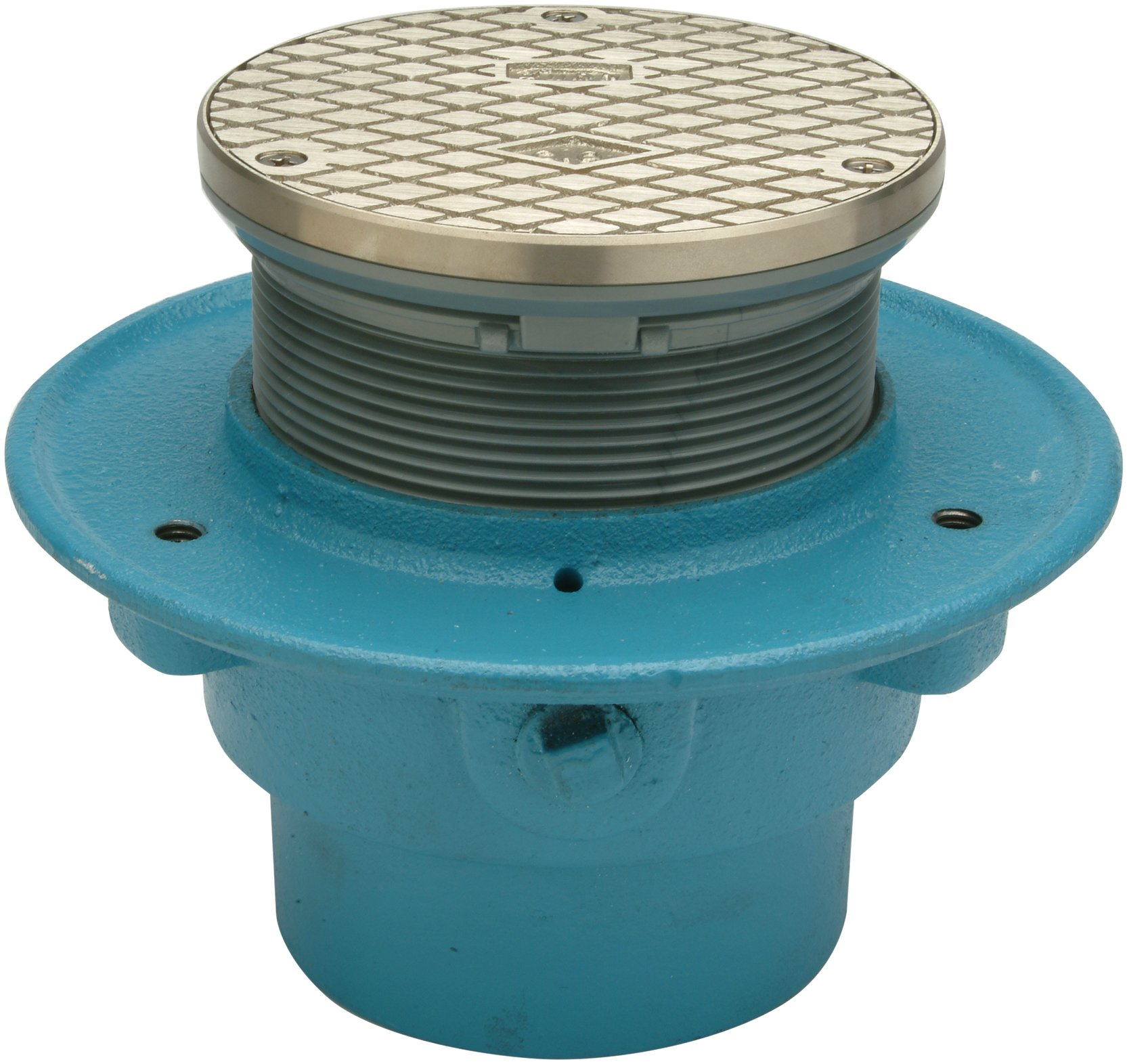 Zurn CR05NIP3S-C PVC Cleanout with 5'' Round Nickel Bronze Top and Clamping Collar, 3'' by Zurn