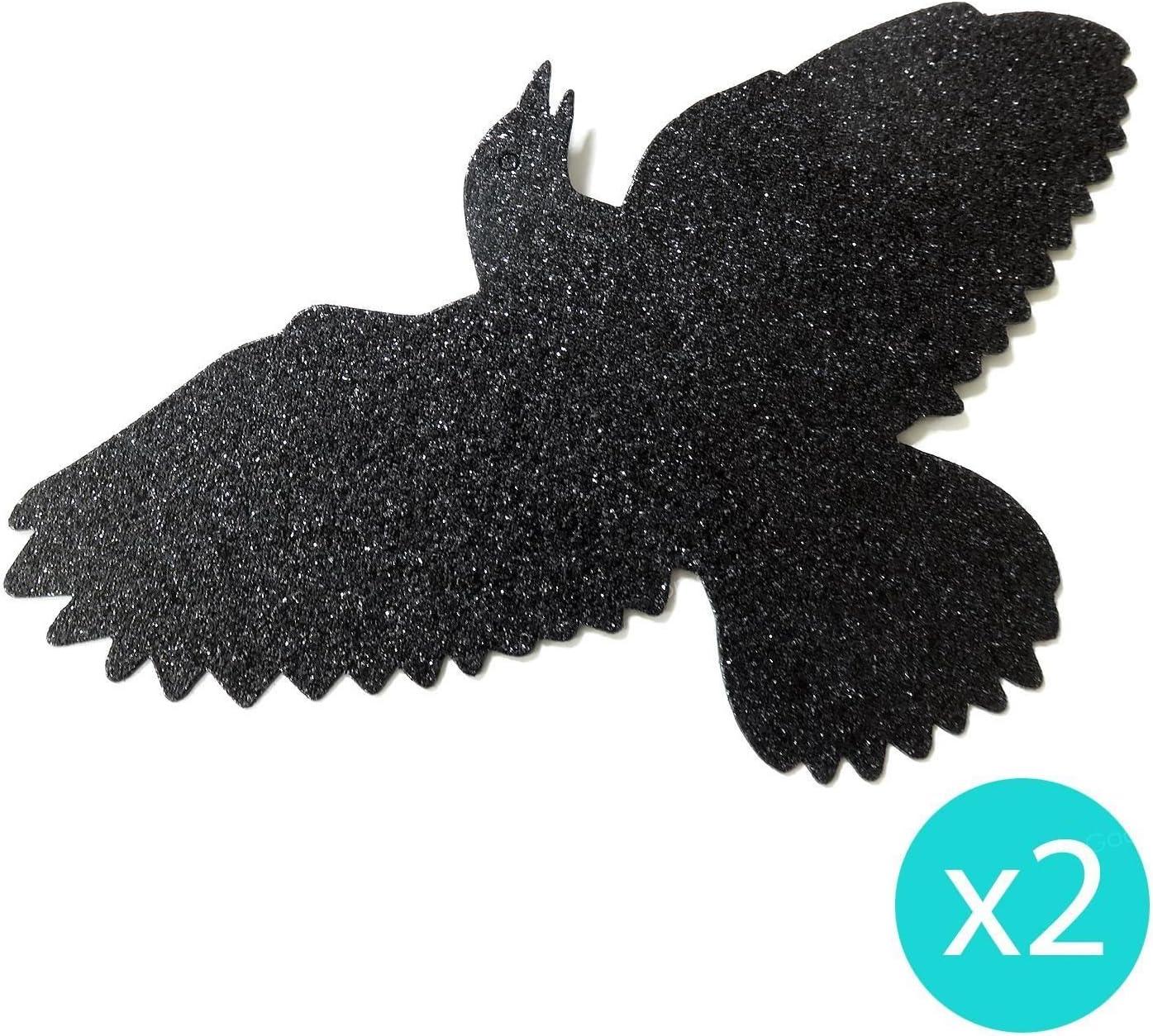 Crows Spiders 17 Pieces Glitter Chandelier Kit Halloween Horror Hanging Party Decorations Bats Skulls