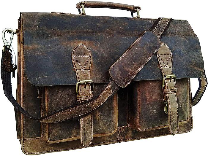Top 6 Leather Laptop Bags For Men Vintage