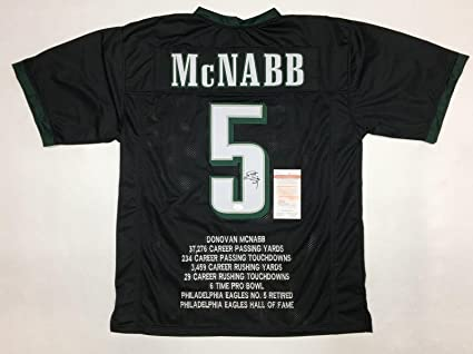 d8c7156e3 Autographed Donovan McNabb Jersey - STAT WITNESSED COA  WP925520 - JSA  Certified - Autographed NFL