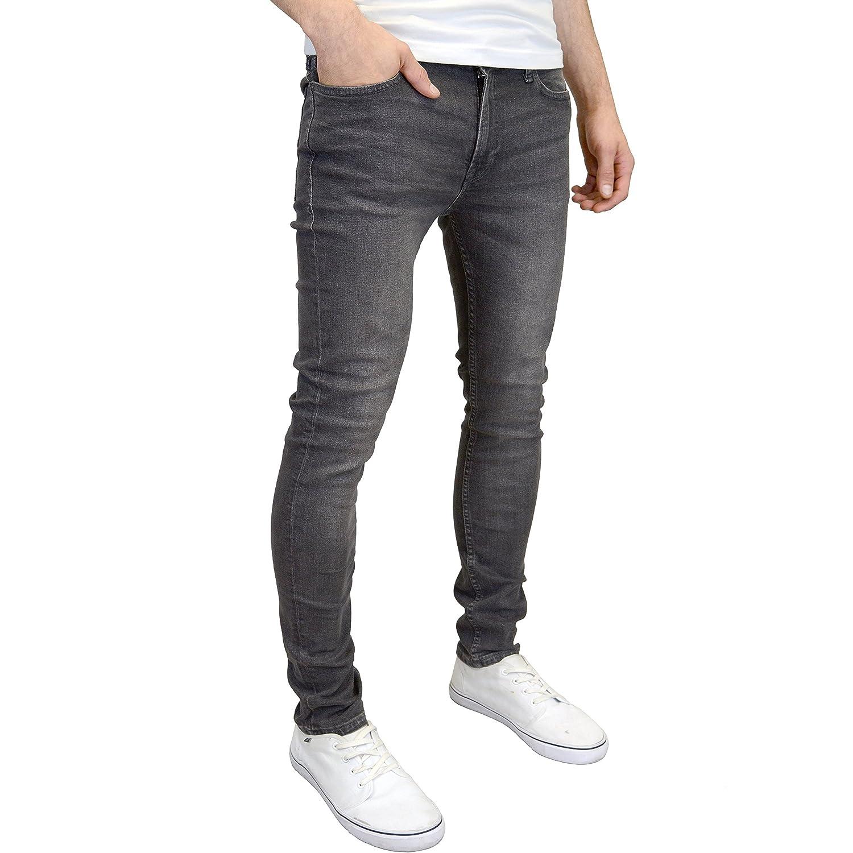 JACK /& JONES Hombre Liam Original 007 Skinny Jeans Gris