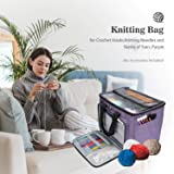 ProCase Knitting Bag, Open-Top Large Capacity