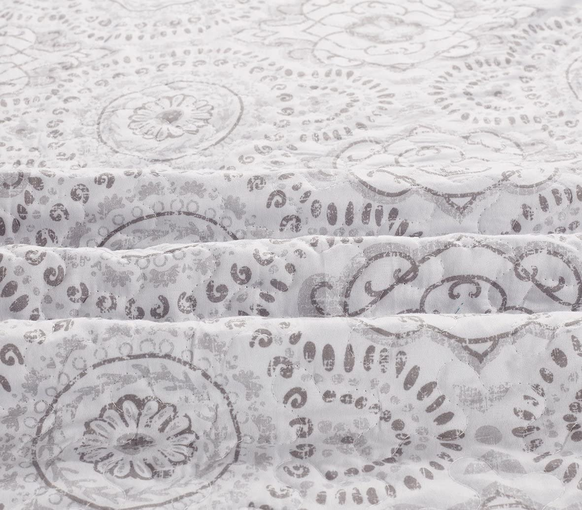 Modern Lightweight Quilted Bedspread SLPR Sense of Calm 2-Piece Bedding Quilt Set Twin with 1 Sham
