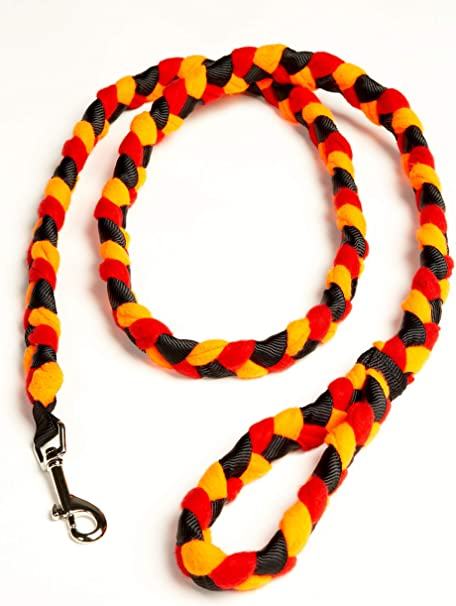 6 multipurpose black and white braided fleece pull tabs for dog leash and service dog pull handle