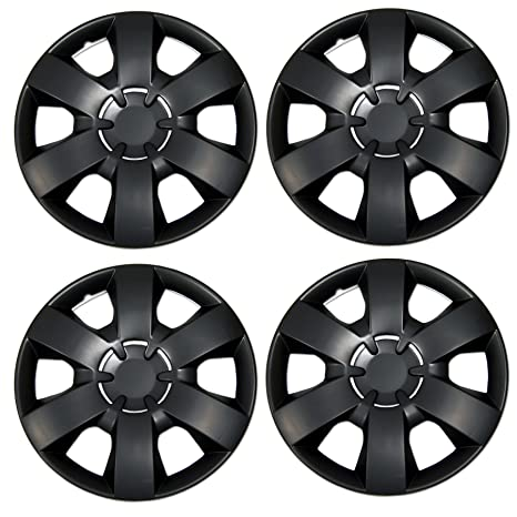 Amazon.com: Tuningpros WC3-14-226-B - Pack of 4 Hubcaps - 14-Inches Style 226 Snap-On (Pop-On) Type Matte Black Wheel Covers Hub-caps: Automotive