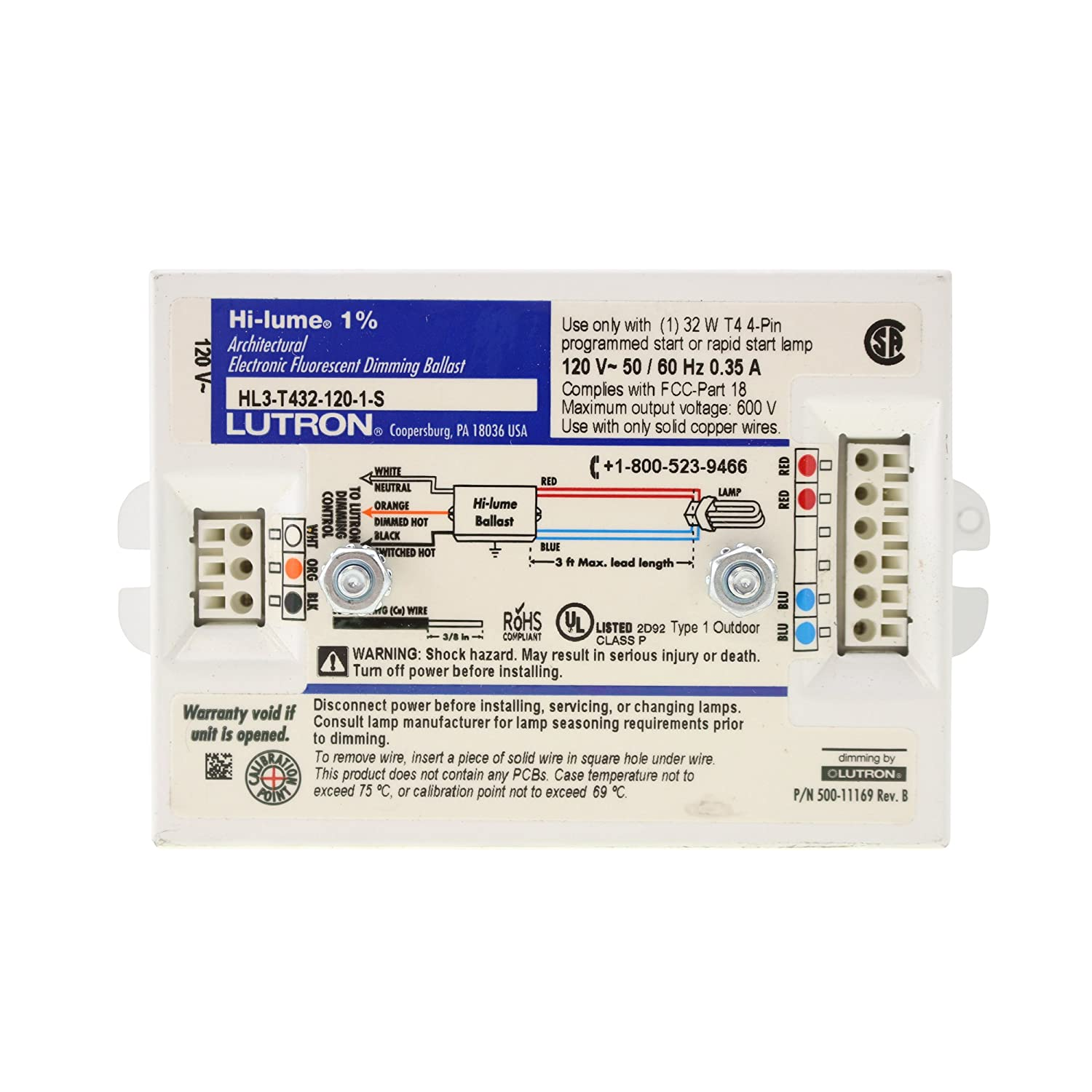 Lutron Hi Lume A Series Wiring Diagram Wire Diagrams 4 Light Rapid Start Ballast Fluorescent Dimming Center U2022 Hl3 T432 120 1 S Architectural Electronic