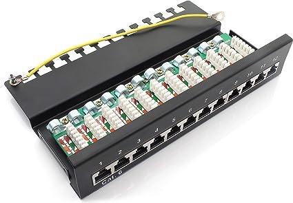 1attack De 367462 Patch Panel Cat6 12 Port Black Elektronik